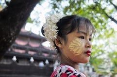 Menina com thanaka Fotografia de Stock Royalty Free