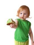 Menina com torta Foto de Stock Royalty Free