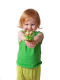 Menina com torta Imagens de Stock Royalty Free