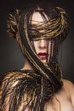 Menina com tranças Foto de Stock Royalty Free