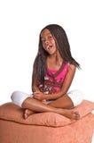 Menina com tranças fotos de stock