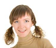 Menina com tranças Imagem de Stock Royalty Free