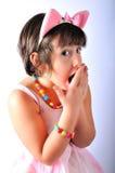 Menina com tutu cor-de-rosa fotografia de stock