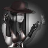 Menina com cigarro Foto de Stock