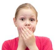 A menina com um doce Foto de Stock
