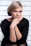 A menina com um olhar pensativo Foto de Stock Royalty Free