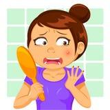 Menina com um pimple Imagens de Stock