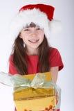 Menina com um presente Foto de Stock Royalty Free