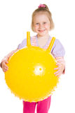Menina com uma esfera Fotografia de Stock