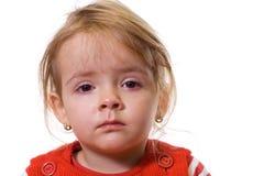 Menina com uma gripe severa Foto de Stock Royalty Free