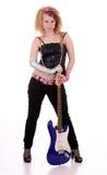 Menina com uma guitarra Imagem de Stock Royalty Free