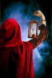 Menina com uma vela-lanterna Fotografia de Stock Royalty Free