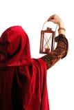 Menina com uma vela-lanterna Fotografia de Stock