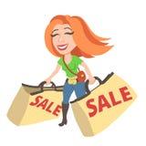 Menina com uma venda Imagens de Stock