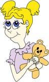 Menina com urso Fotos de Stock