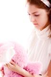 Menina com urso de peluche Foto de Stock