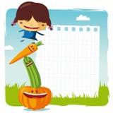 Menina com vegetal engraçado Fotos de Stock