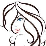 Menina com vetor longo do cabelo Imagens de Stock