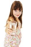 Menina com vidro da água foto de stock royalty free