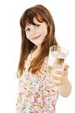 Menina com vidro da água imagens de stock