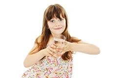 Menina com vidro da água imagens de stock royalty free