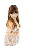Menina com vidro da água imagem de stock