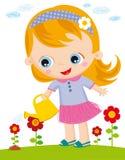 Menina com watercan ilustração royalty free