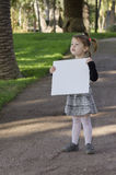Menina com whiteboard Fotografia de Stock Royalty Free