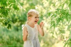 Menina com wildflowers bonitos imagem de stock