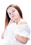 Menina com xaile Imagens de Stock
