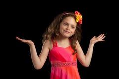 Menina confusa nova fotografia de stock royalty free