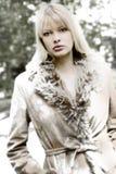 Menina congelada Fotos de Stock Royalty Free