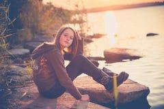 Menina consideravelmente adolescente Fotografia de Stock