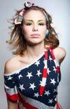 Menina consideravelmente americana Fotografia de Stock