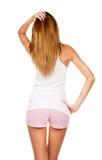 Menina consideravelmente delgada e sua benevolência Fotos de Stock