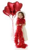 Menina consideravelmente pequena do Valentim Fotografia de Stock