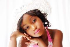 Menina consideravelmente preta Fotos de Stock Royalty Free