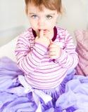 Emoção da criança beautyful foto de stock royalty free