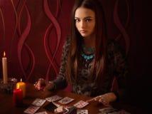 Menina contratada na feitiçaria Fotografia de Stock