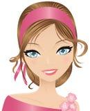 Menina cor-de-rosa ilustração do vetor