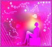 Menina cor-de-rosa da forma Imagem de Stock Royalty Free