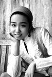 Menina coreana bonita Imagens de Stock Royalty Free