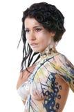 Menina, corpo-arte Imagem de Stock