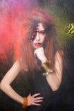 Menina creativa Fotografia de Stock Royalty Free