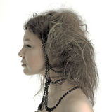 Menina creativa do cabelo Imagens de Stock Royalty Free