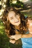 Menina Curly Imagem de Stock Royalty Free