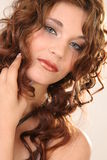 Menina Curly Foto de Stock