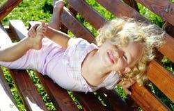 Menina curly pequena Imagem de Stock