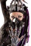 Menina Cyber-gótico isolada fotografia de stock royalty free