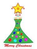 Menina da árvore de Natal Fotos de Stock